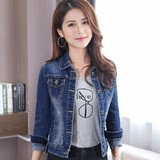 Denim jacket female spring and autumn 2019 new Slim short paragraph Korean students WTA shirt early autumn early red tide ins