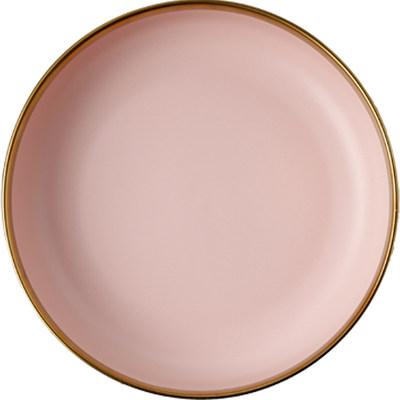 轻奢餐具套装温雅陶瓷碗盘子金边菜盘碟子西餐盘奢华家用碗碟套装 - 图0