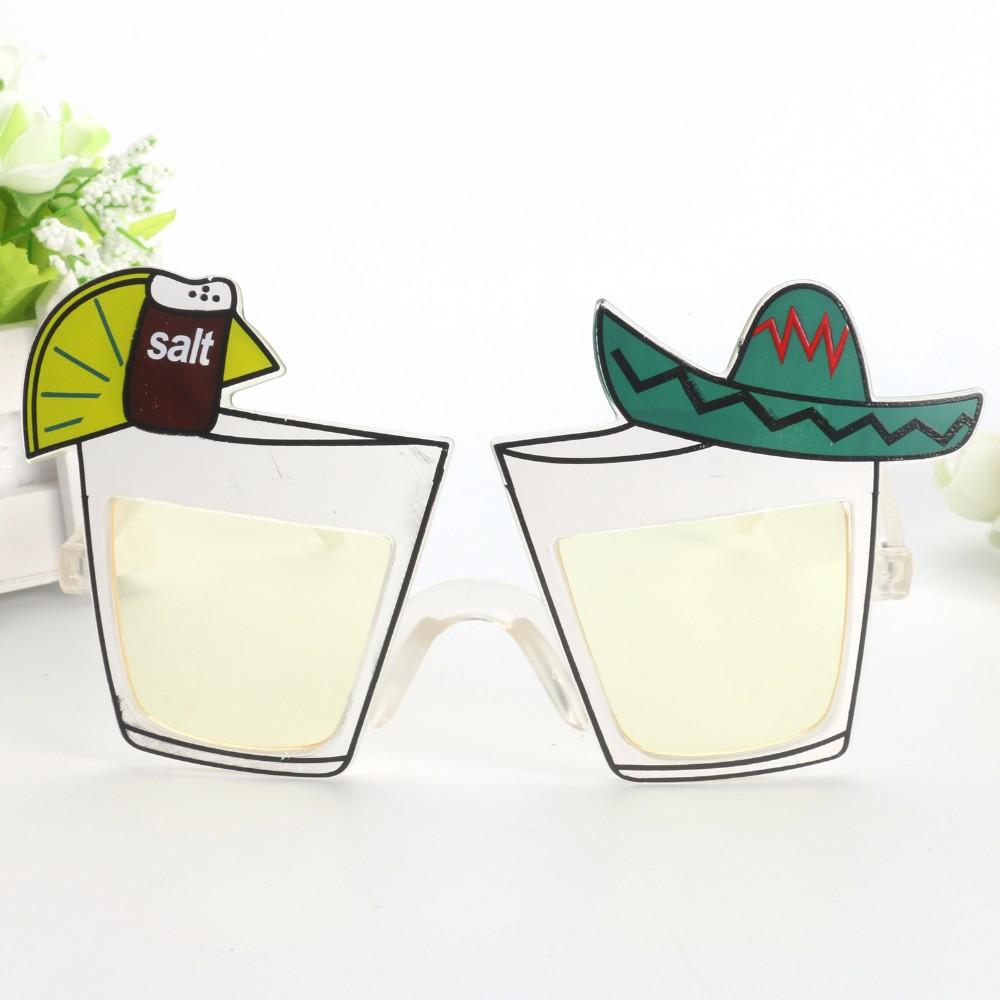 新款鸡尾酒杯墨西哥帽创意搞怪装饰眼镜 啤酒节用品活动庆祝道具