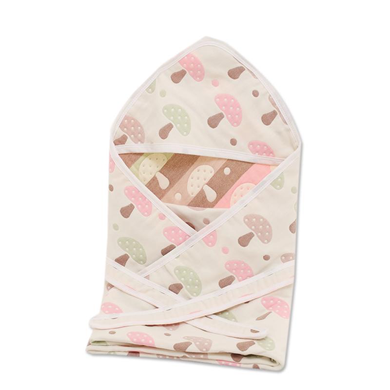 婴儿抱被新生儿包被春秋薄款纯棉纱布抱毯宝宝襁褓春夏季宝宝用品
