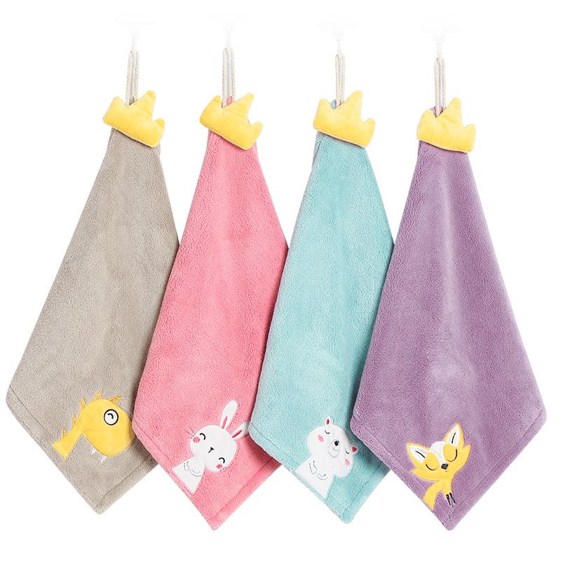 加厚卡通挂式吸水擦手巾厨房卫生