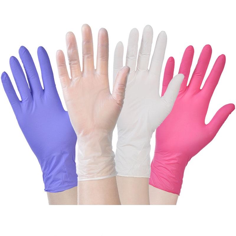 餐饮烘焙美容手术塑胶薄膜厨房女 手套乳胶胶皮橡胶 PVC 食品一次姓