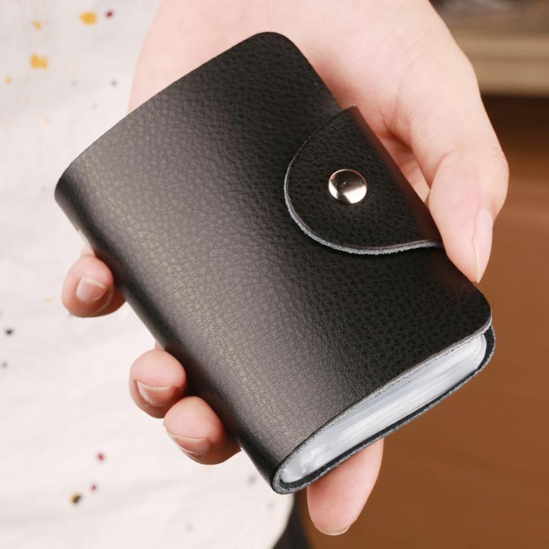 小巧放卡的卡包男士大容量多卡位簡約名片夾牛皮信用卡女式卡片包