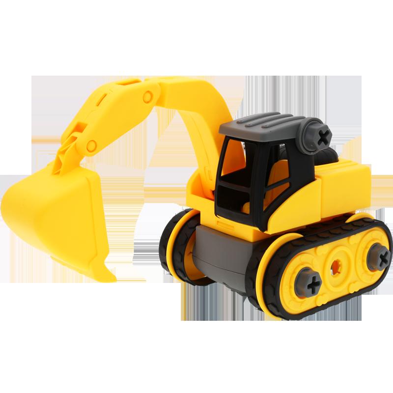 宝宝玩具车男孩儿童挖掘机汽车挖土机拆装工程车套装吊车搅拌大号_天猫超市优惠券