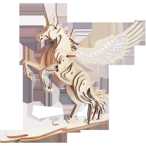 木制摆件3D立体拼装模型益智手工仿真积木质儿童成人动物拼图玩具