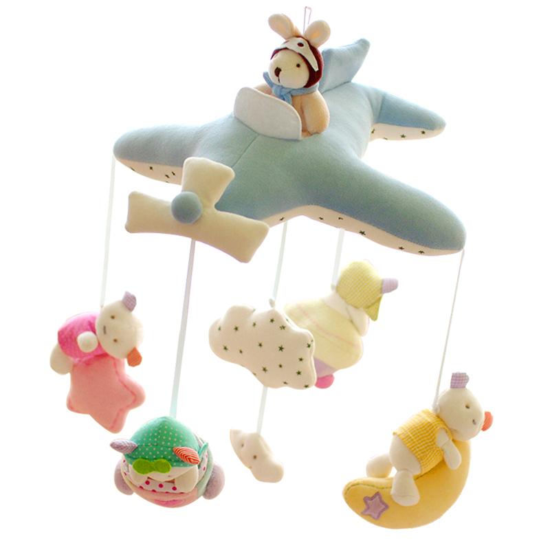 SHILOH生肖款婴儿床铃毛绒布艺音乐旋转玩具0-3-6-12个月新生宝宝