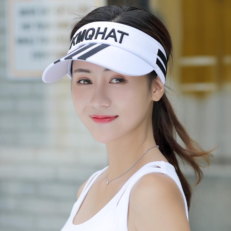 帽子女夏天空顶太阳帽百搭出游韩版鸭舌棒球帽防晒遮脸骑车遮阳帽