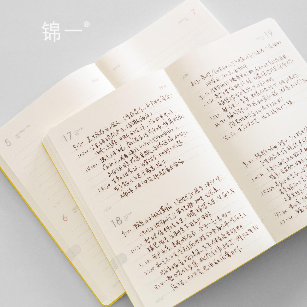 2020效率手册 日程本计划表学生记事本2020年日程计划本笔记本子手帐日记本每日365日工作计划本手账本日历本