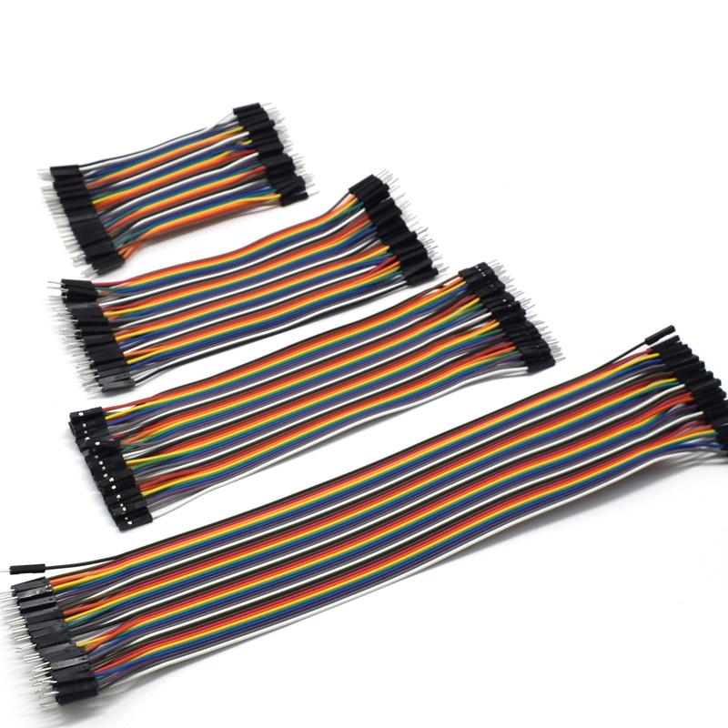 杜邦线连接线彩色软排线公对母母对母公对公导线10/15/20/30/40cm