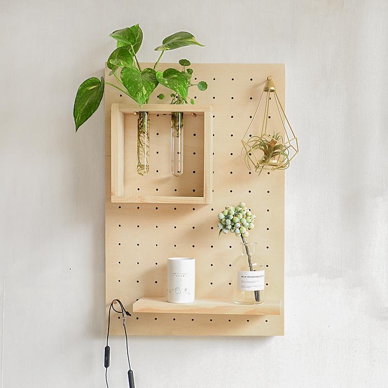 北欧风格装饰画遮挡闸箱简约现代置物架电表盒子竖款洞洞板电表箱