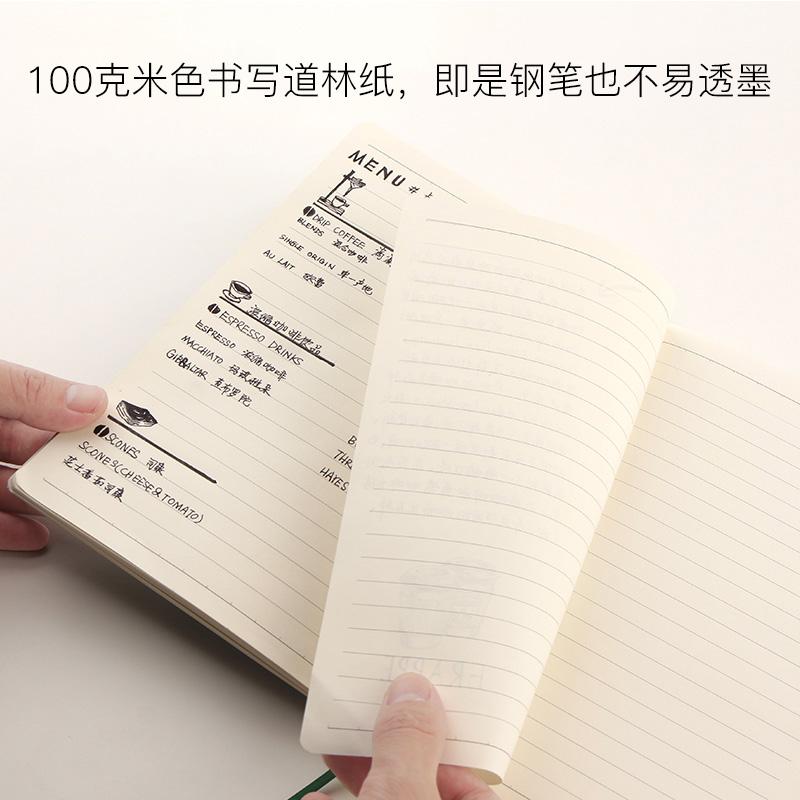 商务高档会议办公工作皮面笔记本子记事本手账本文具定制可印logo