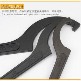 月牙扳手勾头半圆勾型扳手 油缸钩型扳手钩形水表盖专用月牙板手