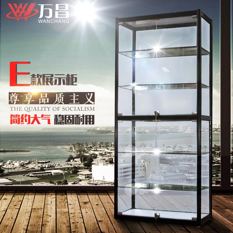 万昌展柜 展示柜手机展柜高柜药店饰品陈列柜 精品柜 玻璃展示架