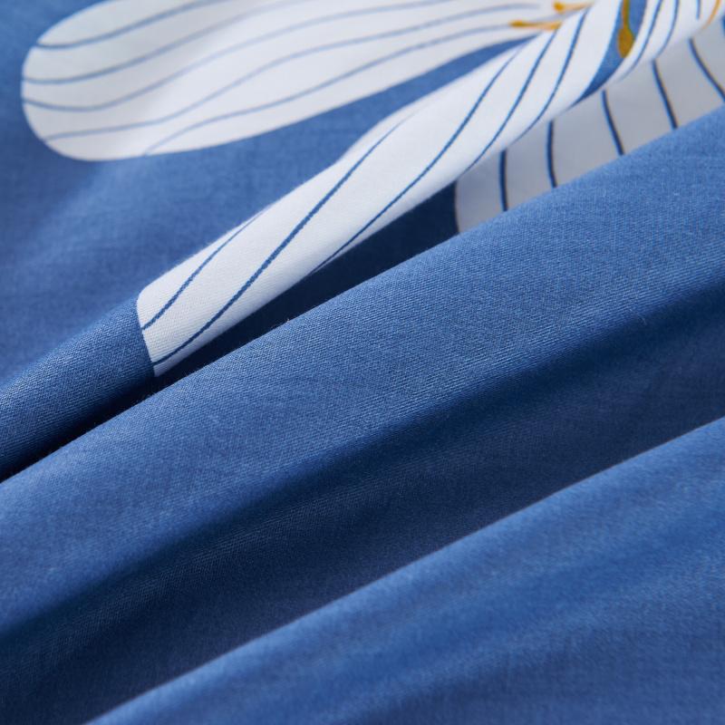 花边纯棉被套 单件全棉被罩学生单人1.2m双人1.5m床1.8米200x230