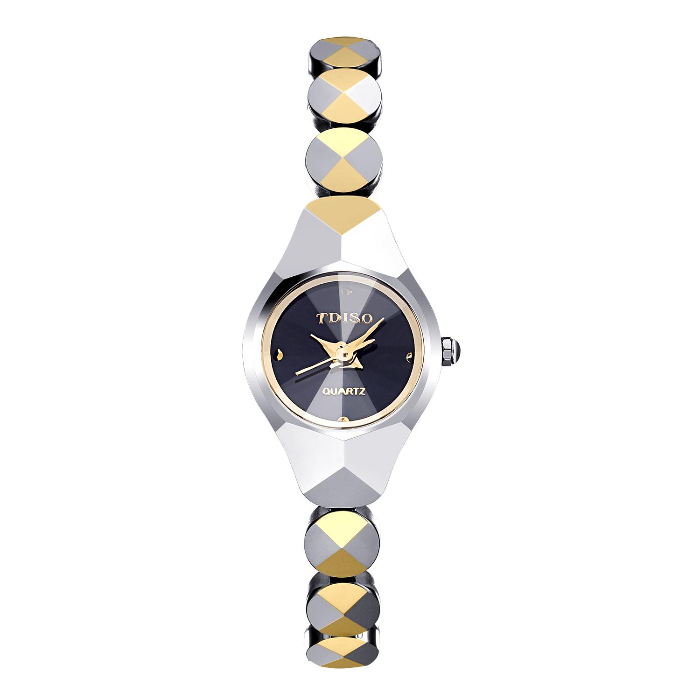 帝时欧石英机芯手表防水钨钢女韩版圆形国产腕表 包邮 TDISO 8110