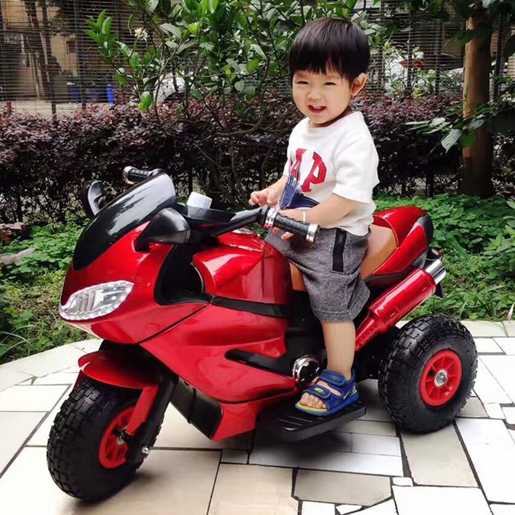 儿童电动摩托车三轮车大号玩具车可坐人宝宝电瓶男女小孩遥控童车