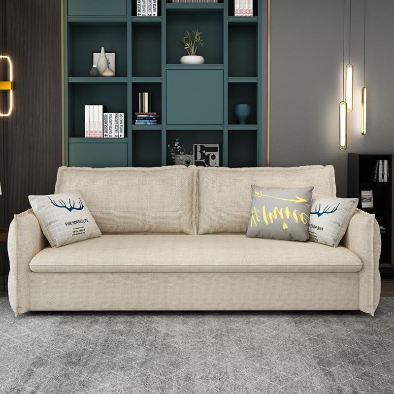梳化床 网红带收纳 小户型双人伸缩坐卧床 北欧沙发床两用可折叠