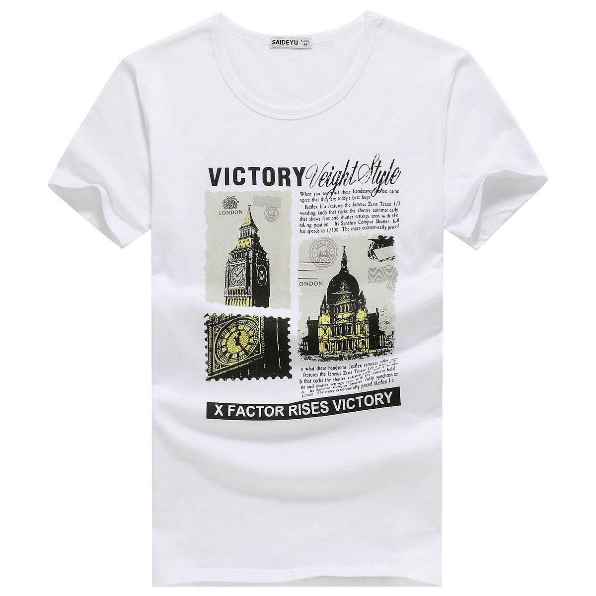 男士短袖t恤夏季纯棉潮流圆领纯色韩版修身黑白色潮牌半袖丅男装