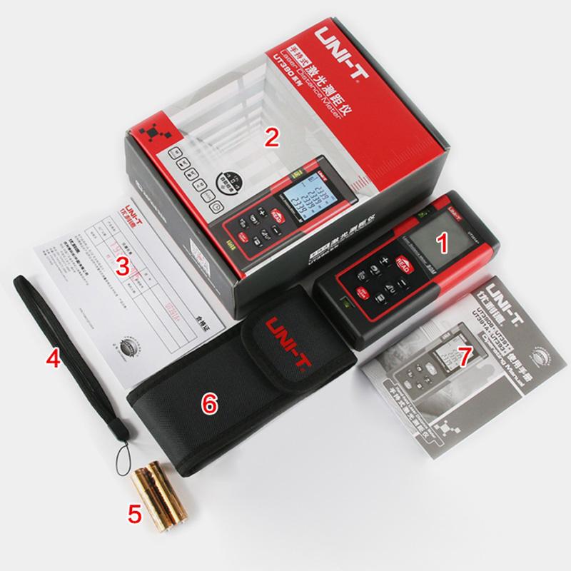 优利德 手持激光测距仪高精度红外线测量仪电子尺激光尺50/100米