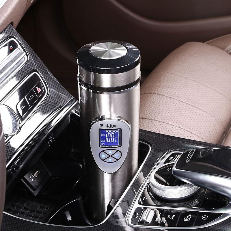 车载热水壶 烧水12V车用加热杯电热杯24V货车热水器保温杯烧水壶