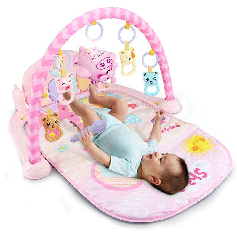 婴儿脚踏钢琴健身架 新生儿宝宝音乐玩具0-1岁3-6-12个月幼儿益智