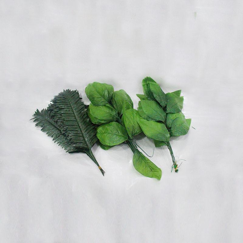 丝网花材料仿真花叶子 巴西铁树叶排叶山尾尖桃叶龟背大葵波斯叶