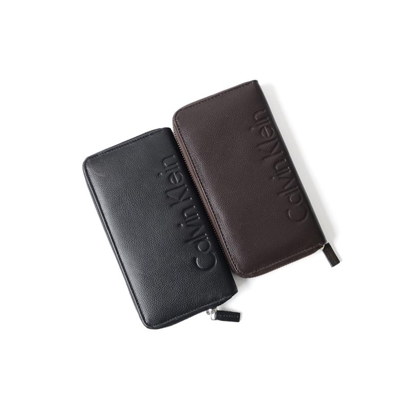集貨跨境Calvin Klein凱文克萊CK男士商務中長款拉鍊手拿錢包