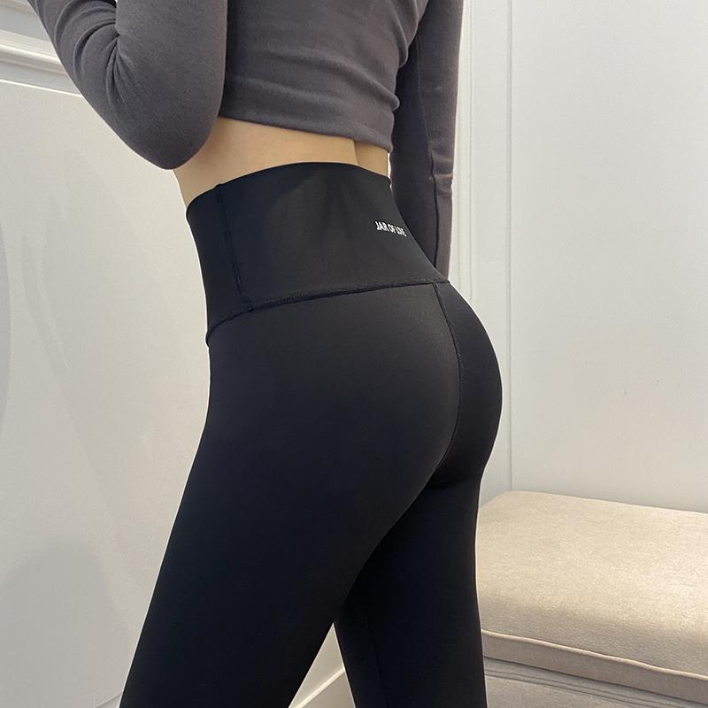 鲨鱼皮打底裤女外穿七分薄款夏液体紧身燃脂瘦腿芭比压力弹力瑜伽