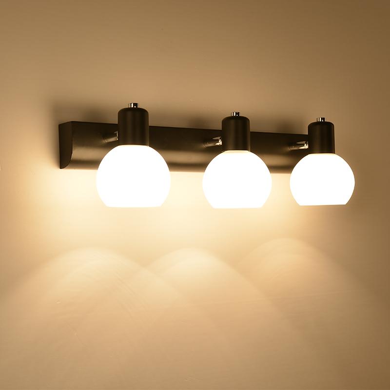 美式镜前灯卫生间化妆间防水防雾简约镜柜led灯可免打孔镜前灯