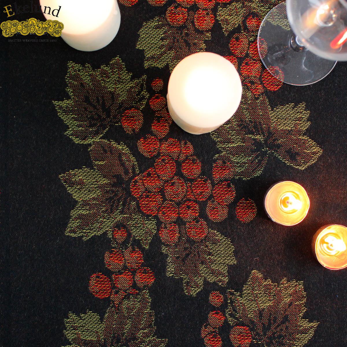 瑞典ekelund 欧式纯棉桌旗 现代简约红葡萄茶几旗酒柜桌布盖布