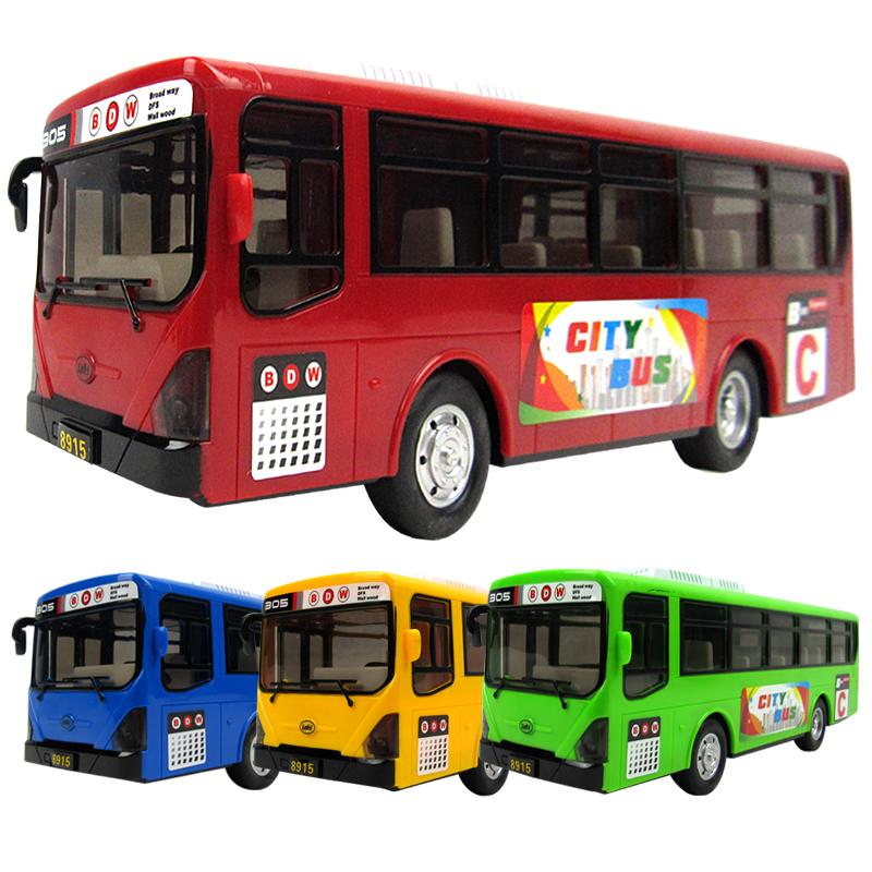 公交车儿童玩具大号开门公共汽车模型惯性车宝宝巴士仿真男孩校车