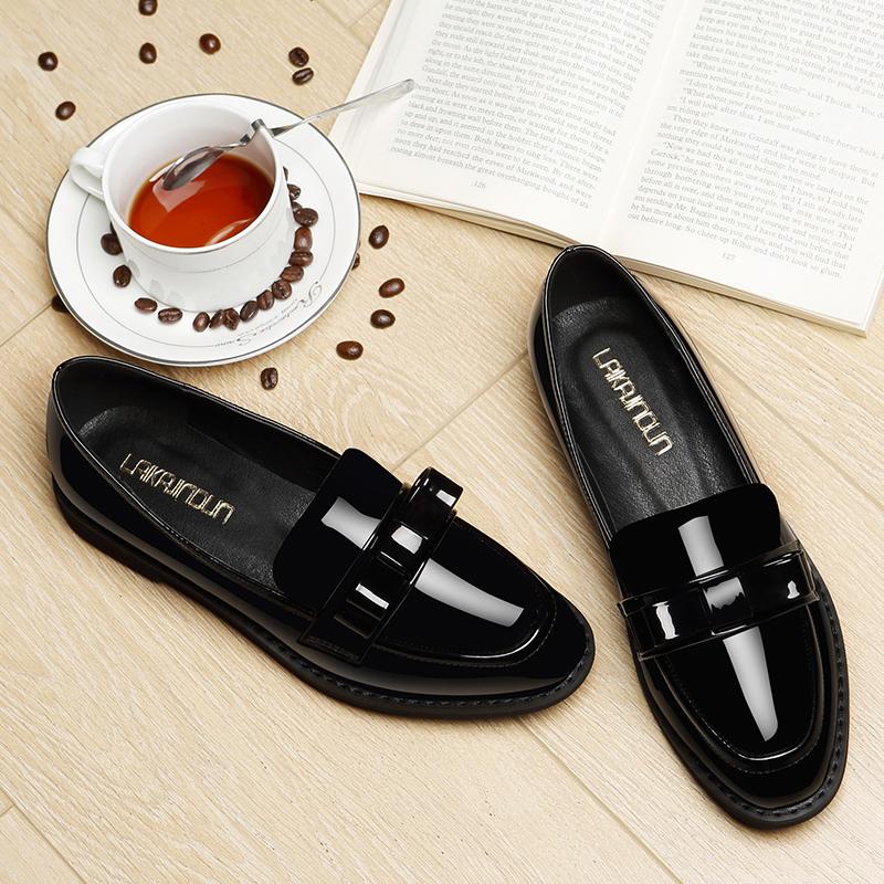 皮鞋女2019新款復古ins黑色小皮鞋韓版百搭夏天英倫潮鞋洋氣單鞋