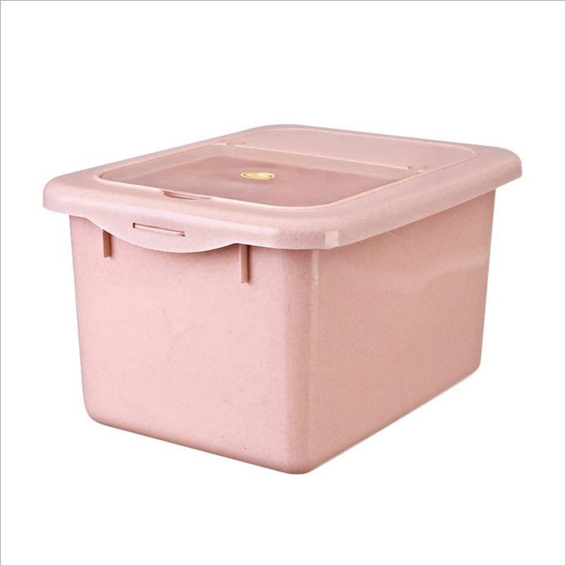 洪客米桶储米箱12KG加厚带盖塑料防虫米缸面粉桶24斤厨房储物盒子