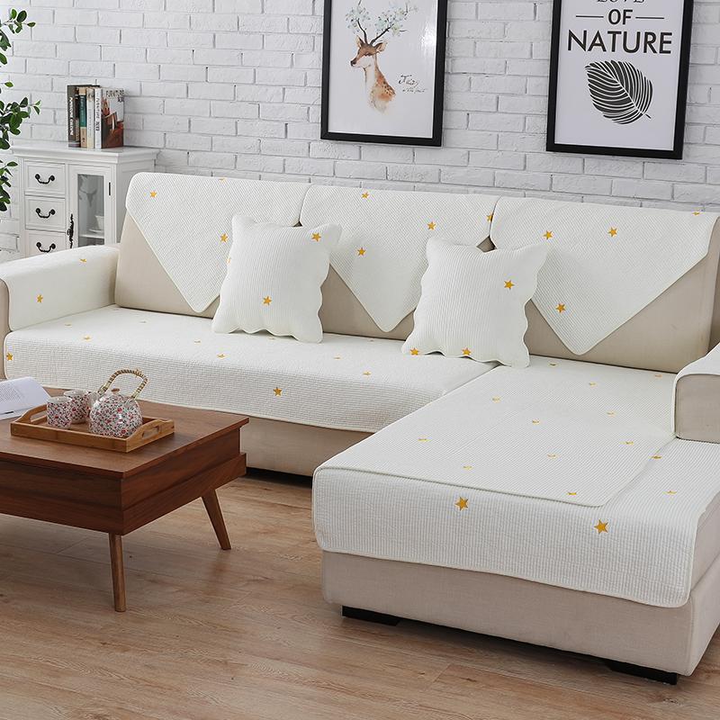 沙发垫纯棉四季布艺简约冬季坐垫现代通用沙发套靠背防滑沙发巾罩