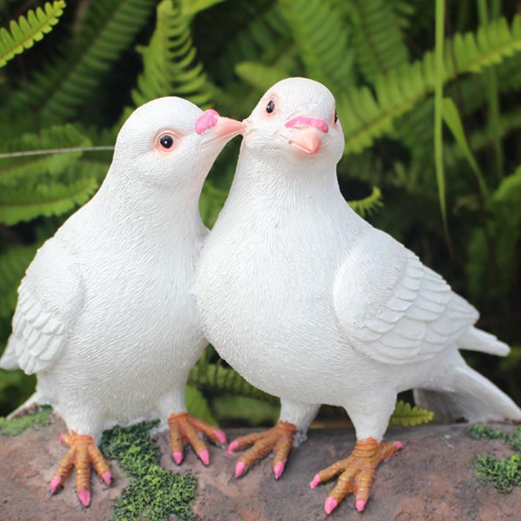 創意樹脂模擬鴿子擺件戶外花園林別墅庭院景觀雕塑白鴿裝飾工藝品