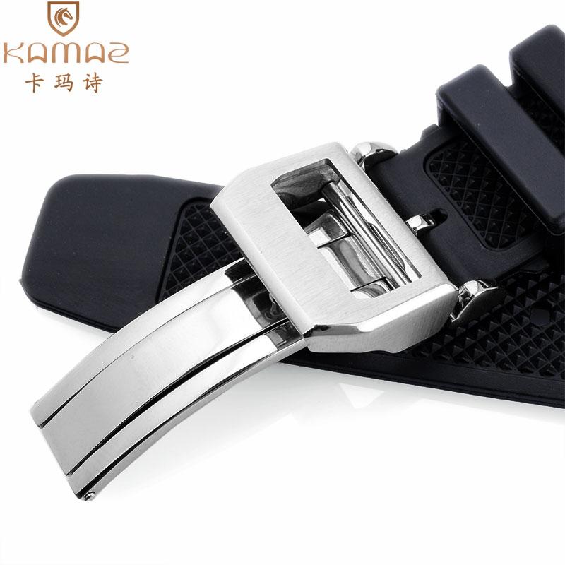橡胶万国适配硅胶手表带 iwc葡萄牙系列 机械表男士配件22mm弧形【图4】