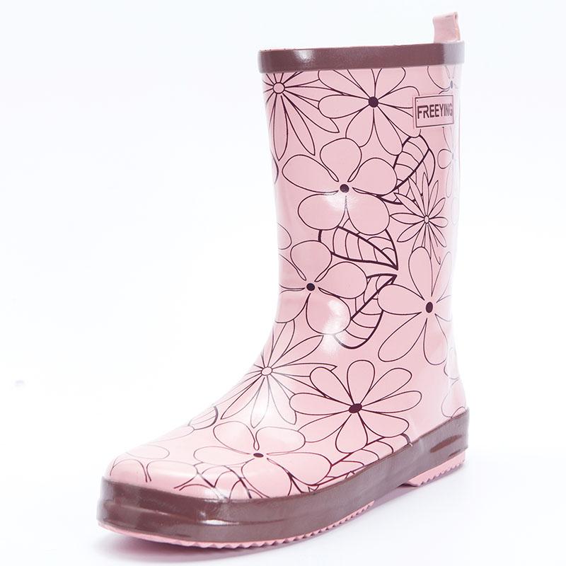 时尚中筒女士雨鞋韩国女式防滑成人水靴水鞋胶鞋套鞋防水橡胶雨靴