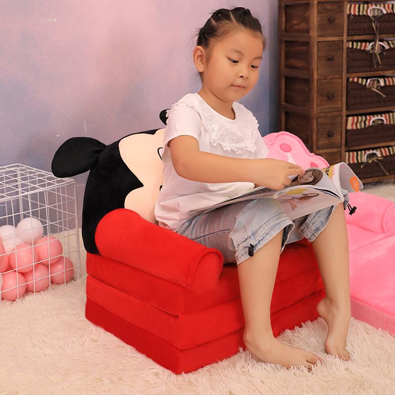 可爱卡通儿童沙发床两小沙发椅公主座椅幼儿园宝宝凳读书角榻榻米