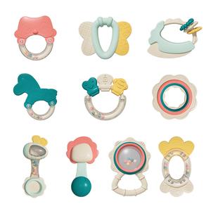 新生儿玩具可咬牙胶益智手摇铃6件