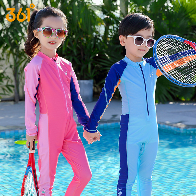361度儿童速干连体泳衣