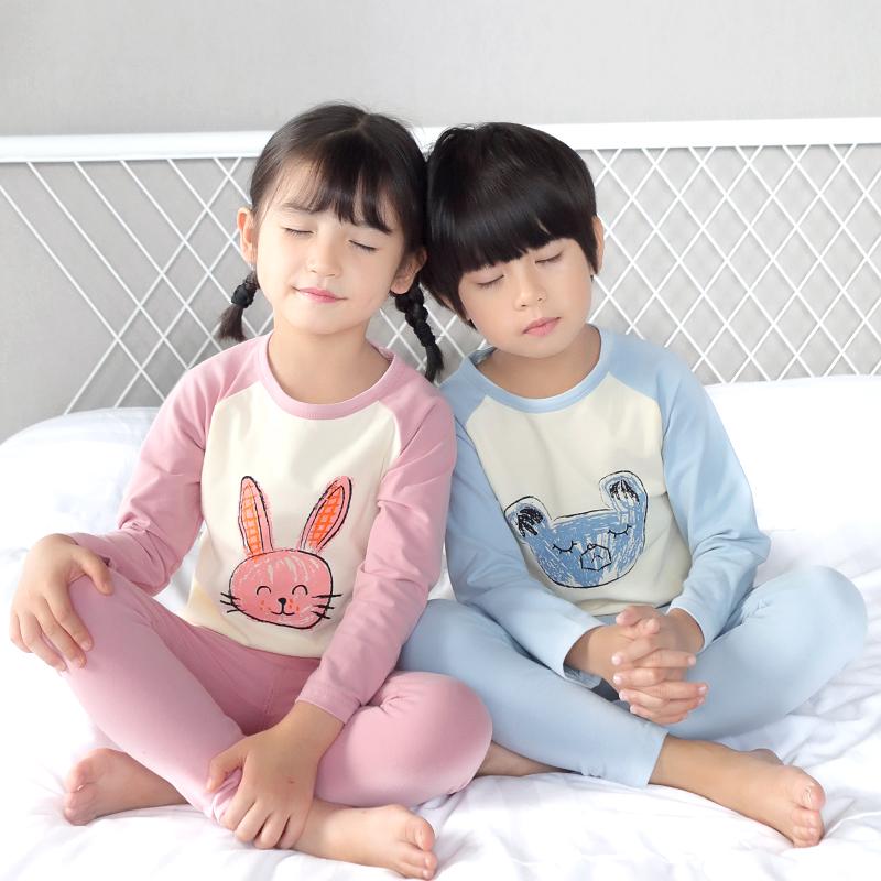 儿童内衣套装纯棉秋冬款男童女童宝宝秋衣秋裤小孩保暖睡衣棉毛衫