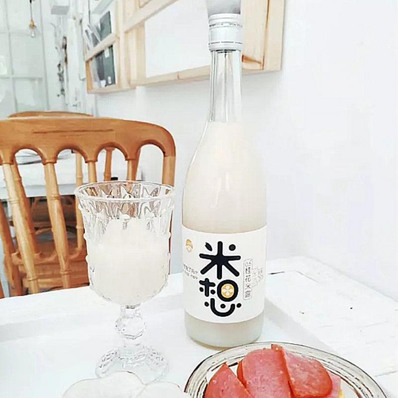 女生营养苏州桥甜甜米露 750ML 瓶 6 度太湖糯米发酵 0.5 米想桂花米酒