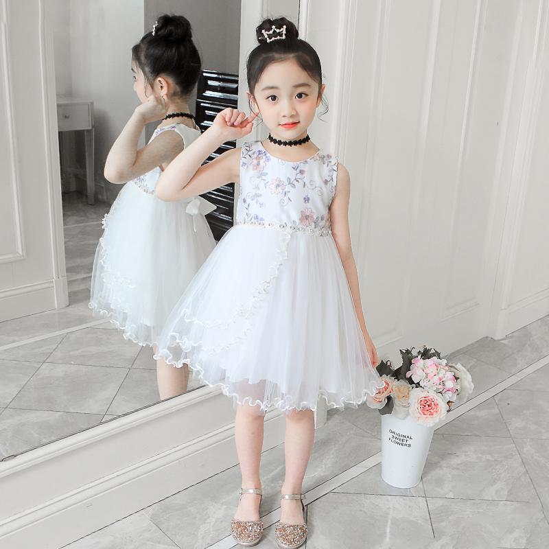 童装女童夏款连衣裙中大童时尚公主裙儿童背心裙女孩子宝宝网纱裙