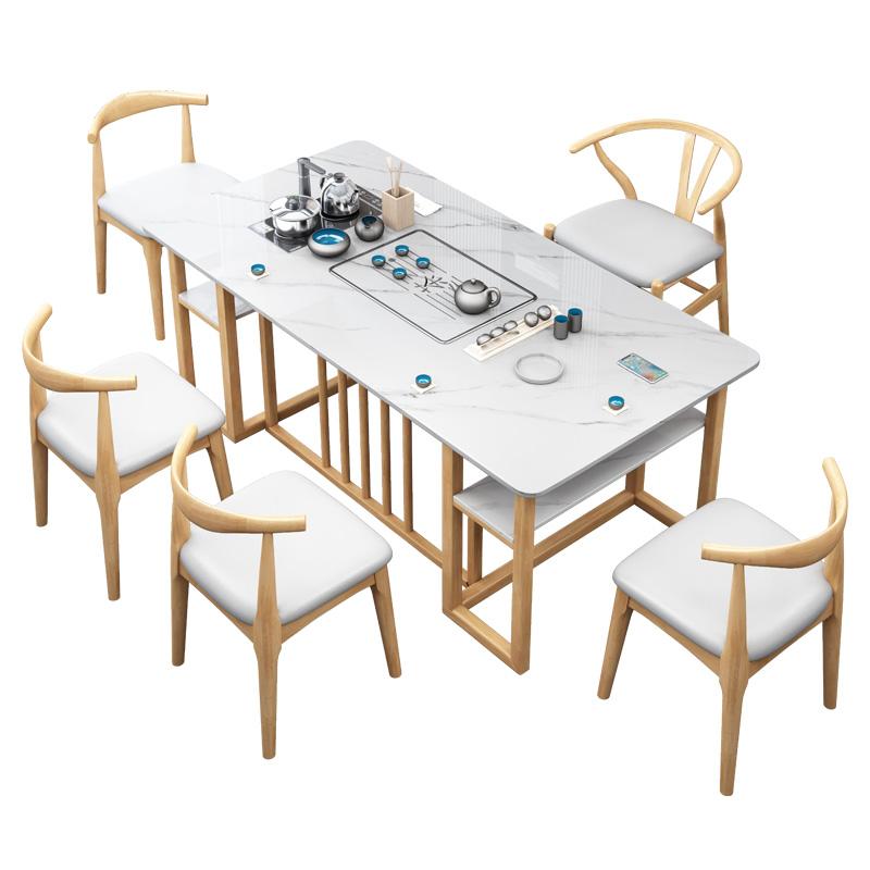 巖板茶桌椅組合現代簡約家用茶臺功夫小茶幾喝泡茶桌茶具套裝一體