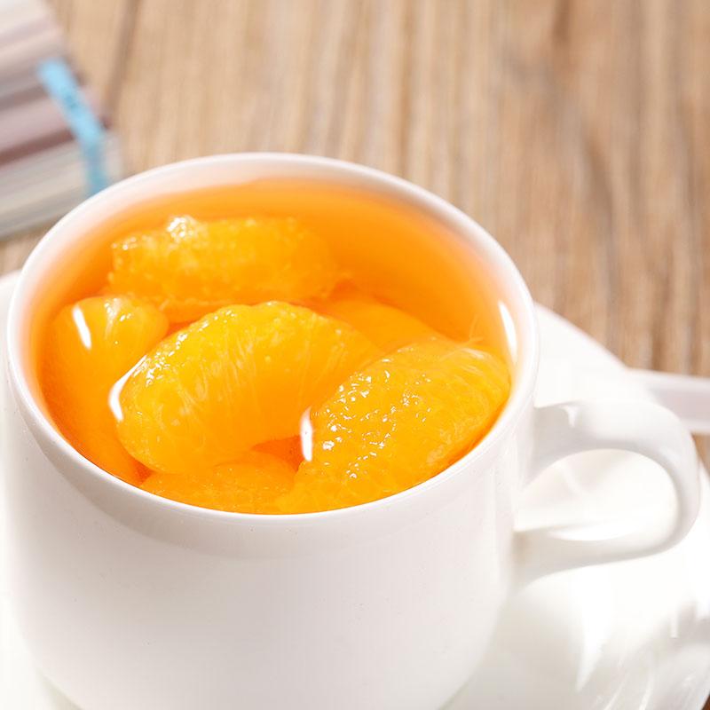 振鹏达橘子罐头桔子糖水孕妇新鲜水果即食整箱烘焙零食248gX6瓶装