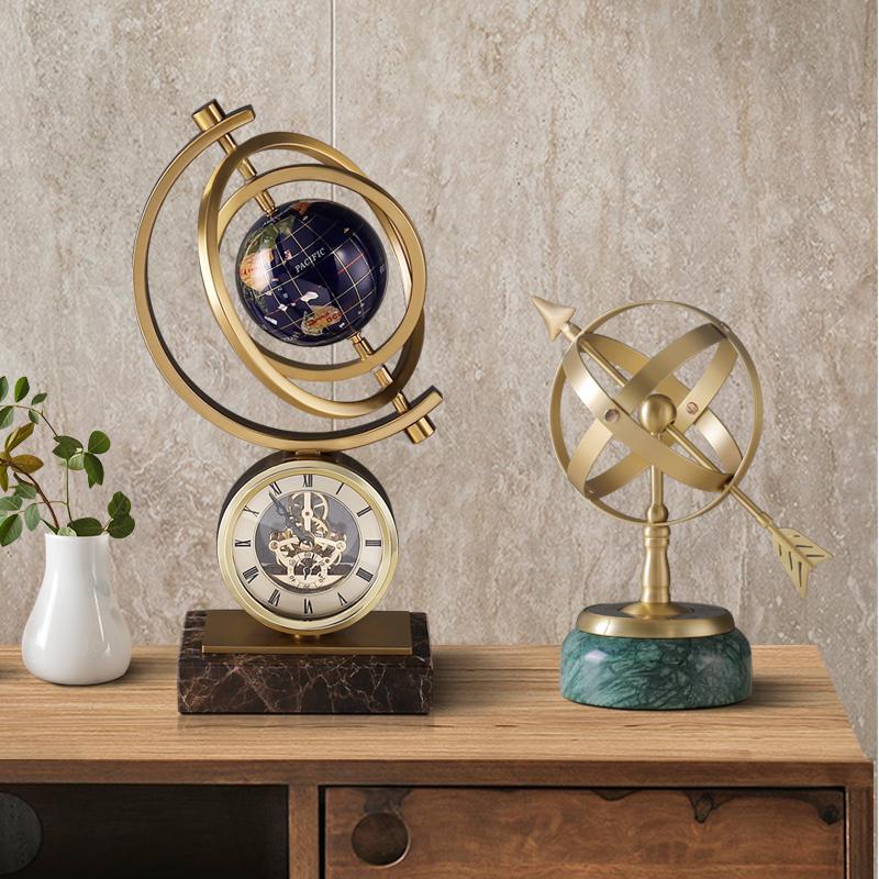 北欧轻奢办公室摆件客厅桌面电视柜装饰品创意地球仪乔迁毕业礼品