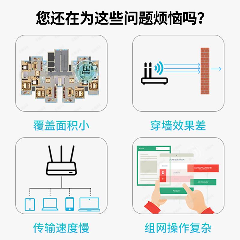 套装穿墙王 wifi 子母路由器千兆端口家用分布式高速无线 B5 华三 H3C