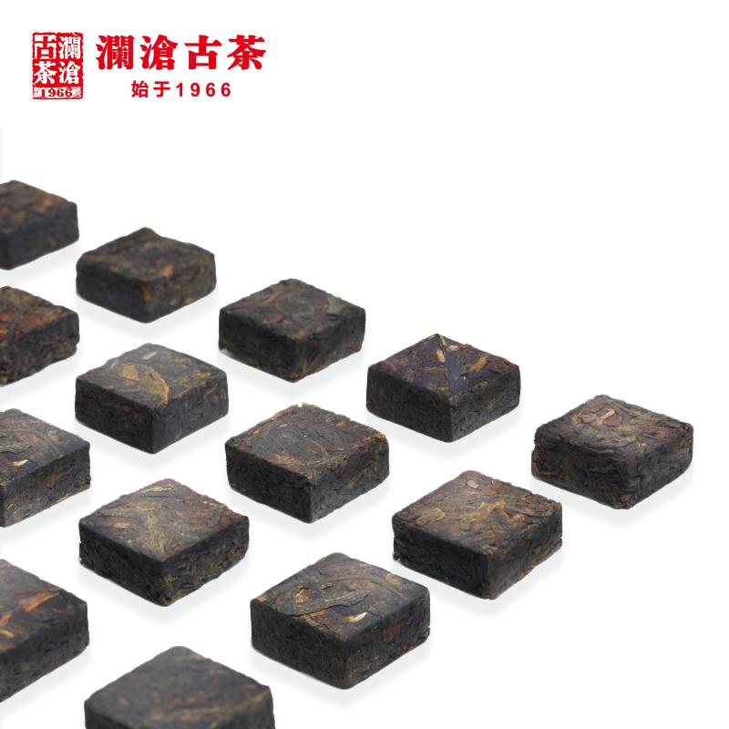 澜沧古茶紫芽小砖古树普洱茶生茶生普100g