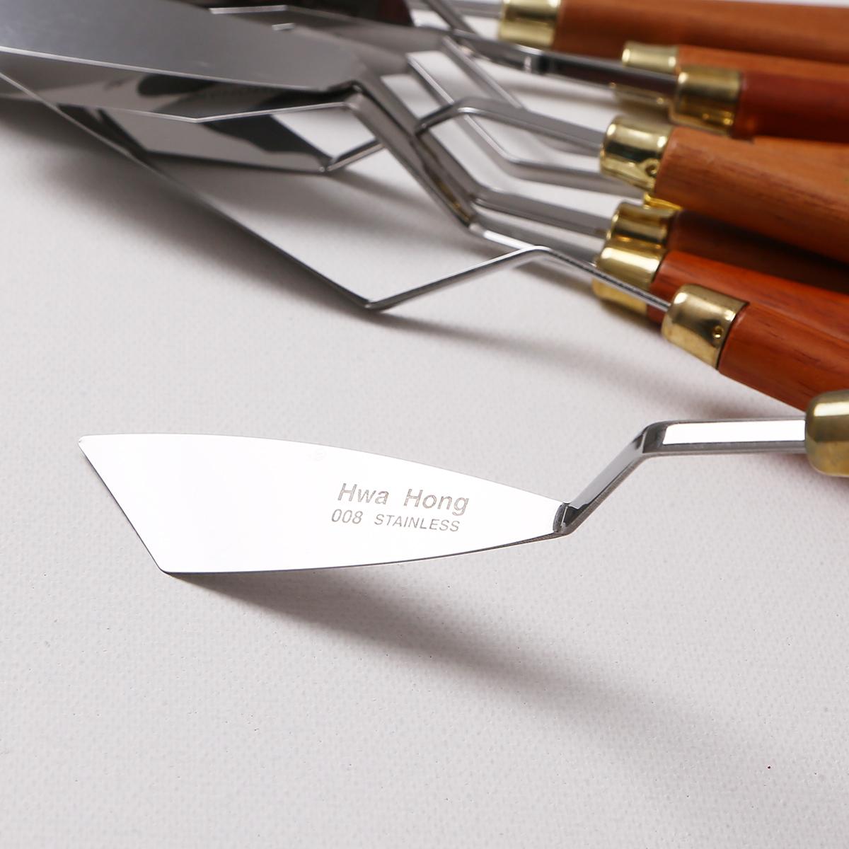 韓國進口華虹油畫刀套裝單把 不銹鋼油畫顏料刮刀 調色刀油畫刀