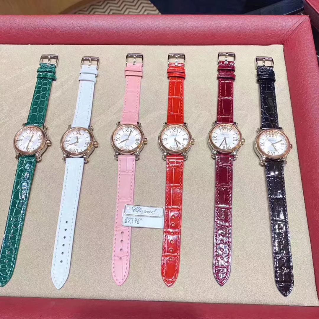 苏明玉同款萧邦快乐钻石HAPPY DIAMONDS手表机械女表278573-3001